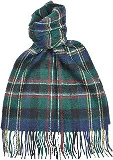 Lambswool Scottish Scott Green Modern Tartan Clan Scarf Gift