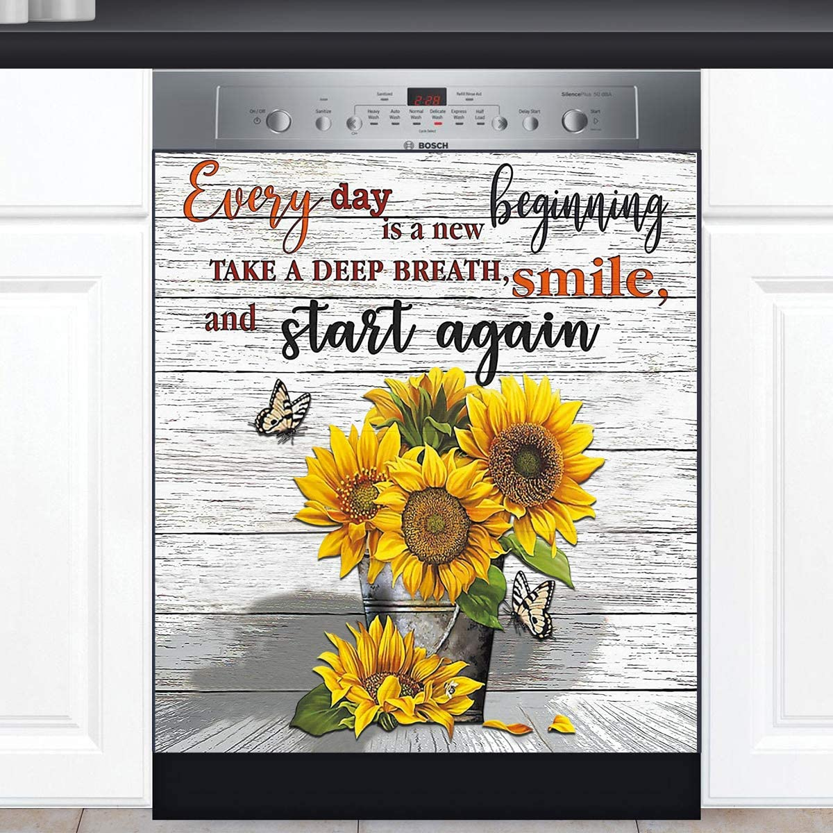 Farmhouse Sunflower Kitchen Dishwasher Decal El Paso Mall Panel Fees free Magnetic Dis