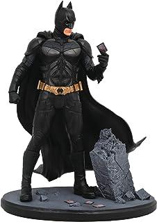 DIAMOND SELECT TOYS DC Movie Classic Gallery: The Dark Knight Batman PVC Diorama Figure Black, Gold, 9 inches