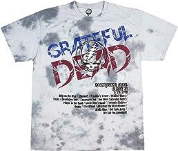 Grateful Dead Camiseta Tie-Dye Tour en Primavera de 1990 en Albany, Nueva York, T-Camisa (Medio)