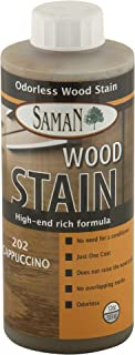 SamaN Interior Water Based Stain for Fine Wood, Cappuccino, 12 oz