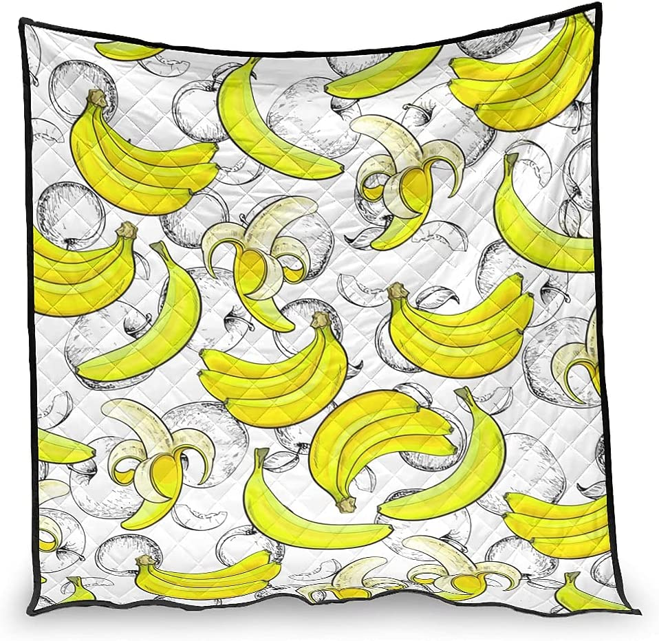 Hiperfay Bananas Fruits Chicago Mall Warm Throw Blanket for Be Couch Bed Kids Philadelphia Mall