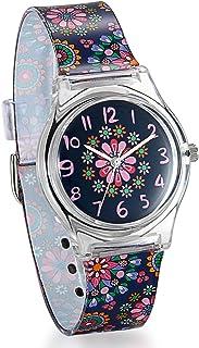 Reloj infantil Avaner de pulsera de cuarzo analógico con esfera digital para niños y niñas con correa de silicona y reloj ...