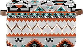 QMIN Panier de rangement Tribal Ethnique Aztèque Géométrique Grandes Boîtes de Rangement Pliables Cubes Organisateur Jouet...