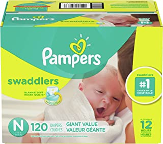 Pampers Swaddlers - Pañales desechables, PAMP SWAD S0 GIANT T/BAE 1/120, recién nacido, 1