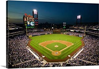 GREATBIGCANVAS Gallery-Wrapped Canvas Panoramic View of 29,183 Baseball Fans at Citizens Bank Park, Philadelphia, PA by Panoramic Images 30