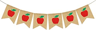 Apples Banner Burlap - Back To School Banner - Fall Banner - School Banner - Classroom Decor - Teacher Gifts - Apple Themed PartyDecorations