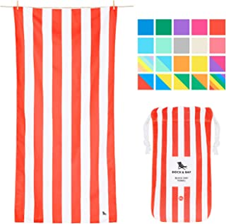Dock & Bay Fast Drying Beach Towels XL - Waikiki Coral Red, Extra Large (200x90cm, 78x35) - Compact Towels Giant Sizes, Sand Repellant Beach Towel