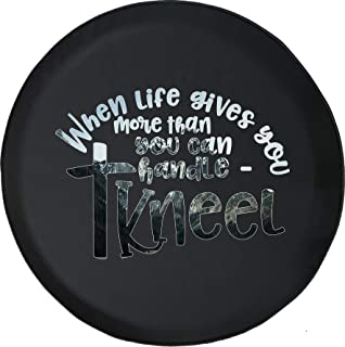 Spare Tire Cover Life Kneel Religion Bible Faith fits SUV or RV Accessories Camper Size 32 Inch