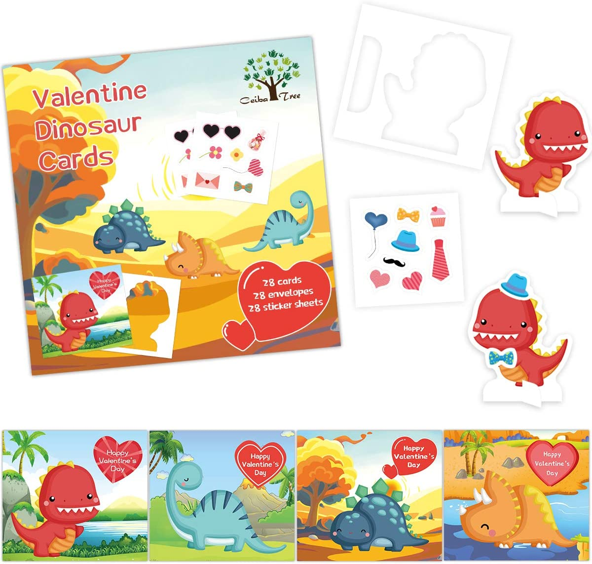 ceiba tree Valentine's Day OFFicial store Cards Stickers Pack Overseas parallel import regular item and 28 with