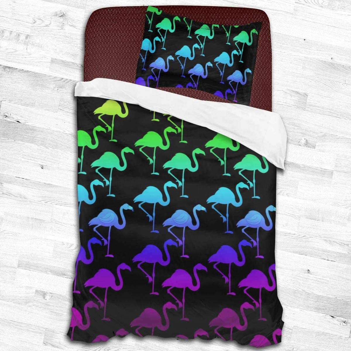Baliboon Bed Sheet Set Colorful Sheets Discount mail order Bedding Flamingo Alternative dealer in Black