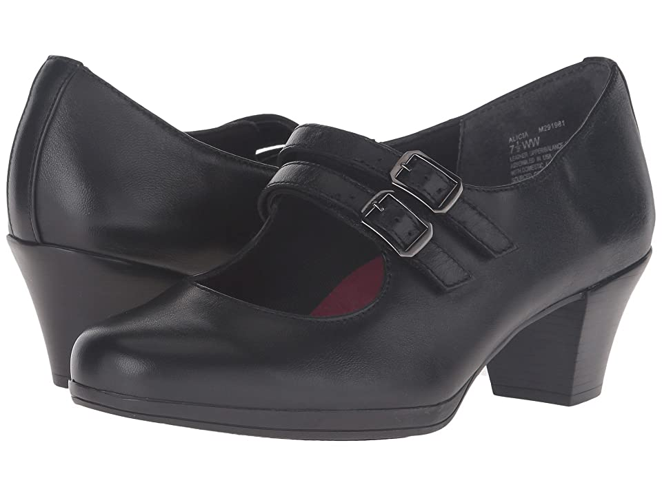 Munro Alicia (Black Leather) Women