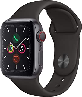 Apple Watch Series 5 40mm (GPS + Celular) - Caja De Aluminio En Gris Espacial / Negro Correa Deportiva (Reacondicionado)