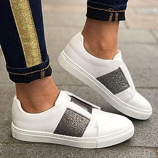 95sCloud Zapatillas deportivas para mujer con purpurina, cómodas, para caminar, para el gimnasio, para el tiempo libre, pa...