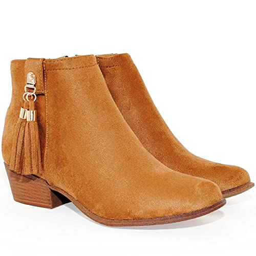 81888f5d2 TRENDSup Collection Women s Western Inside Zipper Stacked Heel Ankle Booties