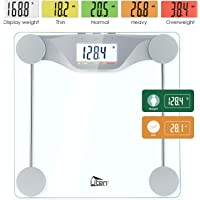 Uten Digital Body Fat Bathroom Scale with Large Backlight & 5 Colors LCD Display