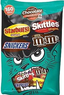 Mars Chocolate Favorites & more 160 Pieces Snickers, Starburst, Skittles, m&m's