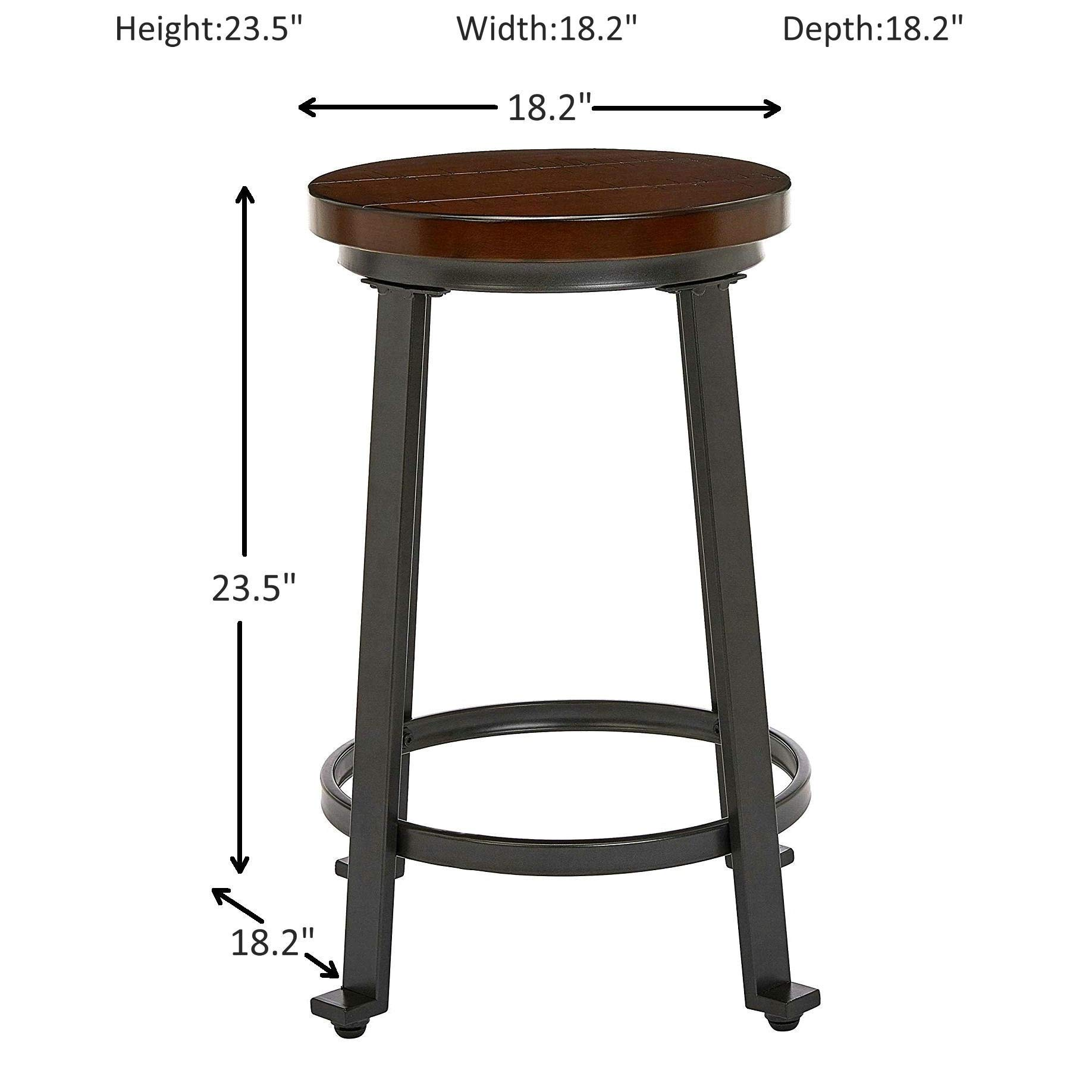Ball & Cast Fremont Metal-and-Wood Counter-Height Bar Stool, Set