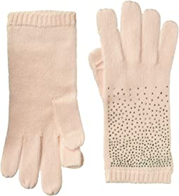 Ombre Crystal Studded Gloves