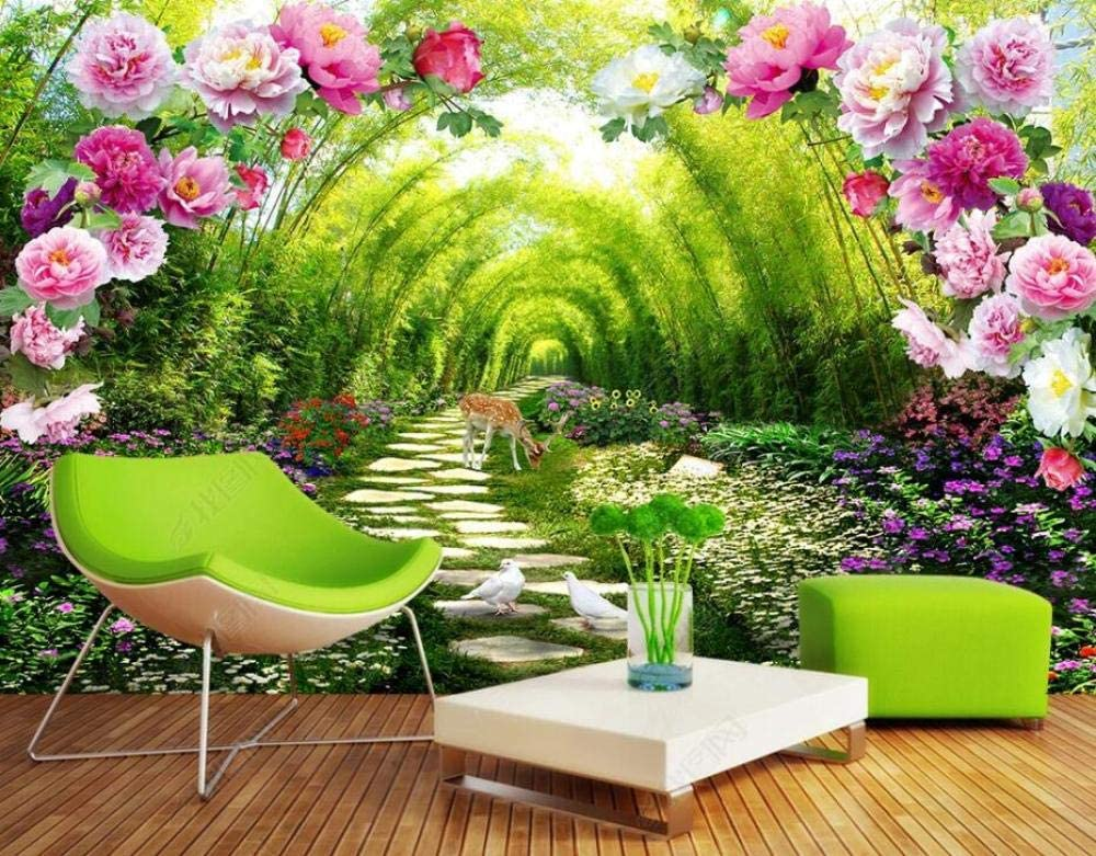 Wall Mural 3D Wallpaper Flower Forest and Bamboo Baltimore Mall Fawn Vine Luxury goods