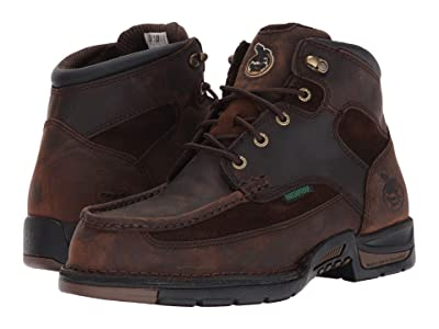 Georgia Boot 6 Athens Moc Toe/Steel Toe (Brown) Men
