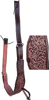 CHALLENGER Horse Western Floral Tooled Leather Rear Flank Back Saddle Cinch Billets 9772AT