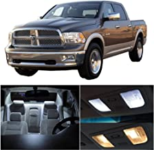 SCITOO 10Pcs White Interior LED Light Package Kit Replacement Bulbs Fits for Dodge Ram 1500-3500 2002-2010