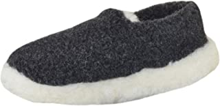 SamWo, Pantuflas unisex de lana de oveja, suela suave antideslizante, 100% lana de oveja, tamaño: 37-48