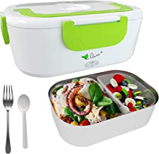 VOVOIR Chauffage Lunch Box Électrique Boîte Chauffante 12V / 220v 2 in1 Voiture Accueil Chauffe-Plats Chauffe-Repas pour l...