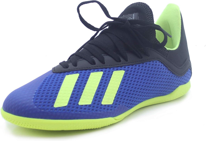 Adidas X Tango 18.3 Indoor shoes Kid's Soccer 12.5K Football bluee-Sholar Yellow-Black