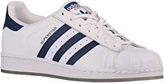 adidas Originals Men's Superstar, MINBLU,FTWWHT, 10 Medium US