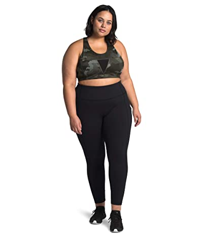 The North Face Plus Size Motivation Pocket 7/8 Tights (TNF Black) Women