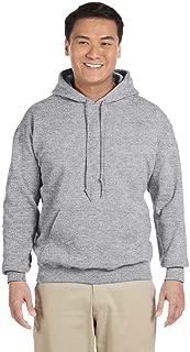 Men's Rib Knit Pouch Pocket Hooded Sweatshirt, Graphite Heather, 2XL