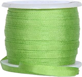 Threadart 100% Pure Silk Ribbon - 2mm Lime Green - No. 642-3 Sizes - 50 Colors