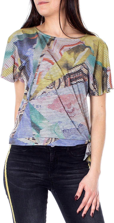 Desigual Women's 19SWTKB4MULTI Multicolor Viscose TShirt