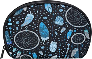 ALAZA Dream Catcher Half Moon Cosmetic Makeup Toiletry Bag Pouch Travel Handy Purse Organizer Bag for Women Girls
