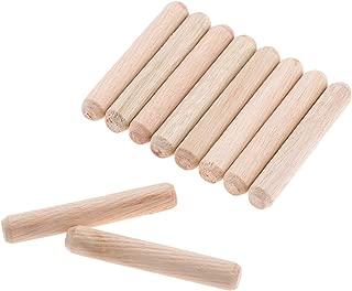 "50pcs Woodworking Hardwood Round Dowel Pins Wooden Craft Rods Furniture Fitting Tools 10x60mm(DXL)/0.39""x2.36"""