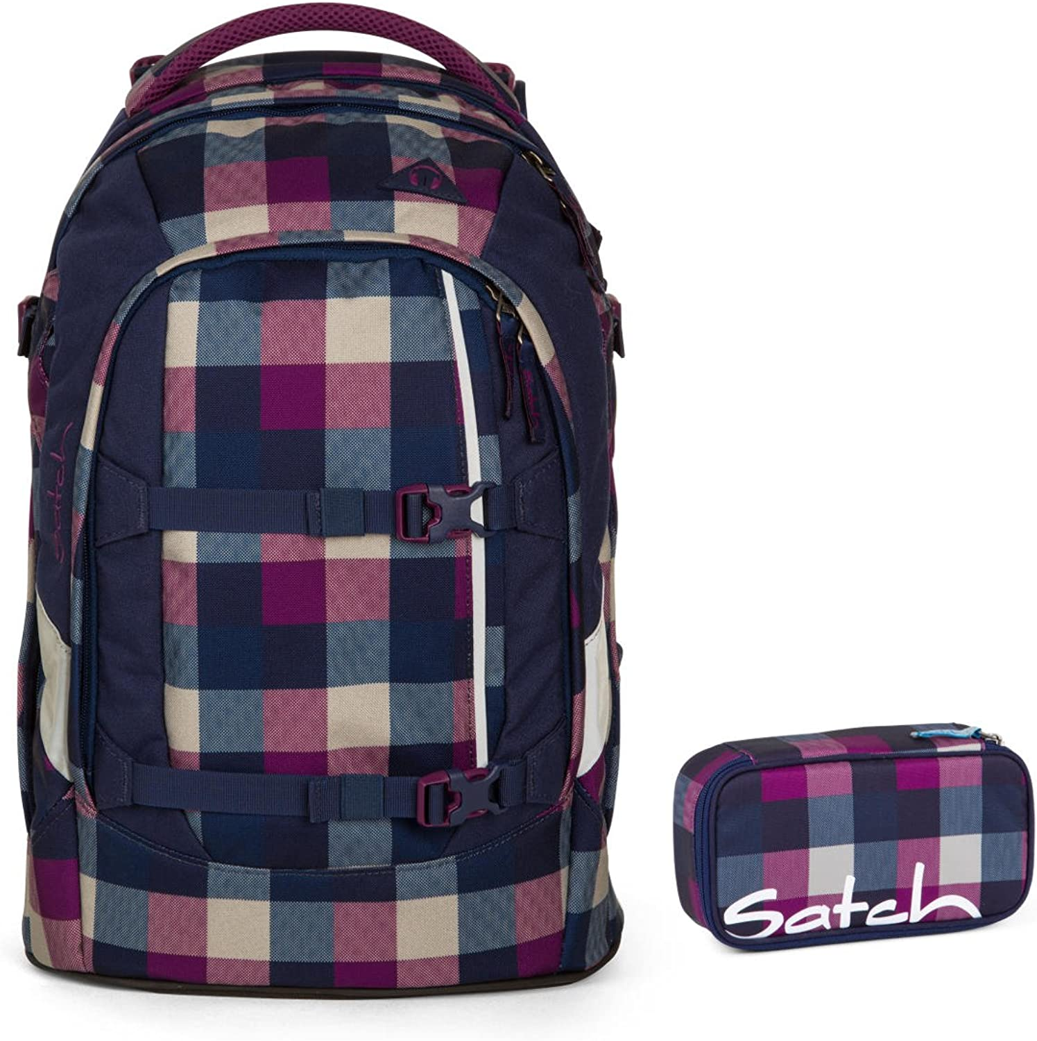 Satch pack by ergobag 2er Set Schulrucksack & Schlamperbox Berry Carry