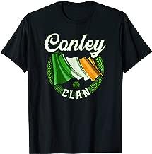 Conley Surname Irish Last Name Ireland Flag T-shirt
