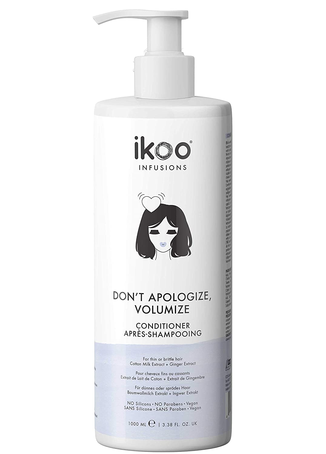 ikoo Don't Apologize Volumizing Conditioner for Fine, Thin or Fl