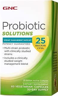 GNC Probiotic Solutions Weight Management Support 25 Billion CFUs 60 Vegetarian