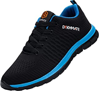 DYKHMATE Mens Trainers Running Shoes Lightweight Breathable Athletic Walking Sneakers Gym Casual Shoes