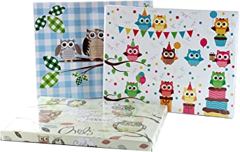 - Rest Compack Sowy 7787 walizka, karton, wielokolorowa, 50 x 40 x 25 cm