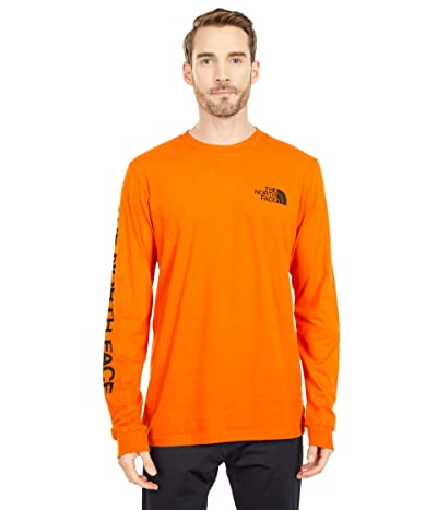 The North Face Long Sleeve TNFtm Sleeve Hit T-Shirt (Heritage Orange/TNF Black) Men