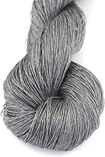 Lotus Yarns Wholesale 100% Natural Linen Lace Weight Hand Knitting Crochet Yarn 5X50g/Hank for Summer Fashion Garments Baby Clothes Soft and Cool (#04)