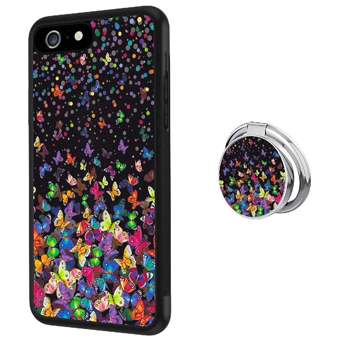 Hynina Phone Case and Phone Ring Buckle Compatible for iPhone 6s 6 - Butterflies