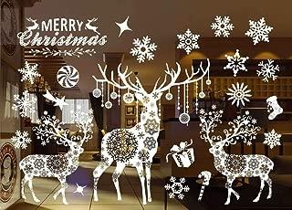 Etiqueta de la ventana de Navidad Santa Vinilos de Vinilo Removible Windows Puerta Mural Se Aferra Para Escaparate, Vacaciones patrón de decoración: 55 X 38 cm / 21.6 X 15 '' (802)