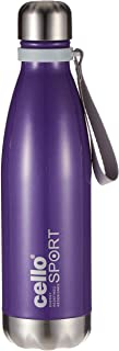Cello Scout Sporty Bottle, Purple, 500 ml, Stainless Steel