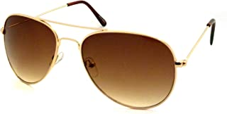CLASSIC Air Force Aviator Style Sunglasses (Gradient Gold Brown)