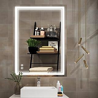 Sponsored Ad - ISTRIPMF Led Bathroom Mirror,28x20 inch Dimmable Lighted LED Bathroom Mirrors, Anti-Fog,Waterproof Wall Lig...